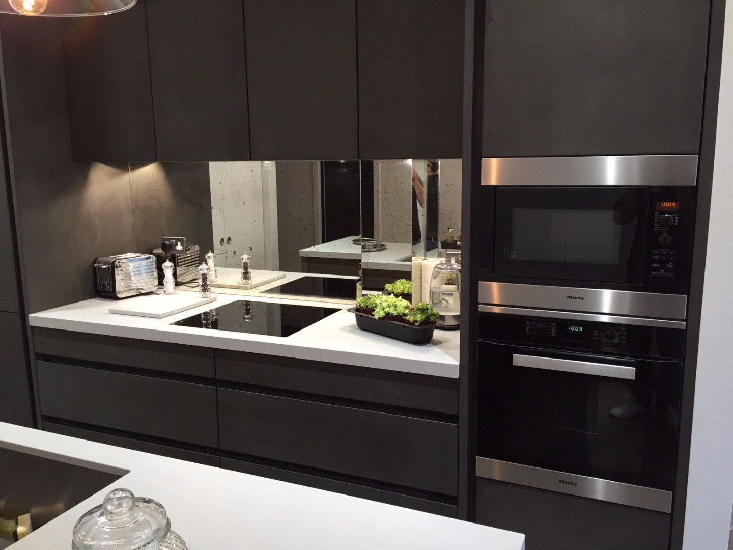 watson - concrete kitchen units in black