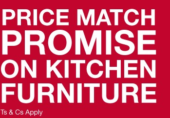 Price match promise on kitchen furniture