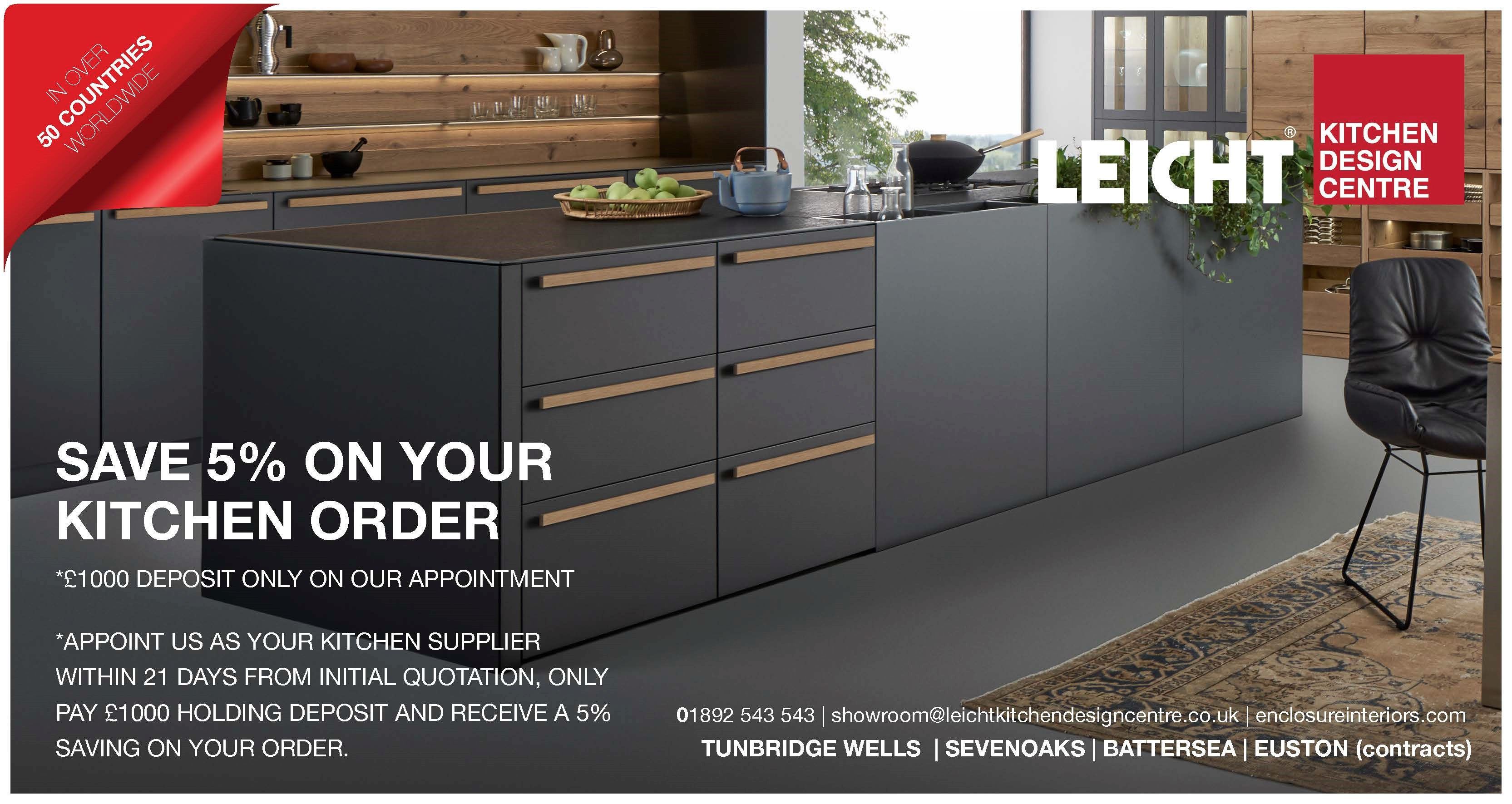 save 5% on your kitchen order